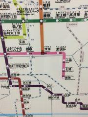 地下鉄路線図今里