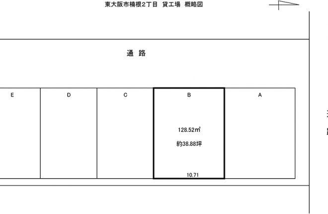 概略図|東大阪市楠根の倉庫工場